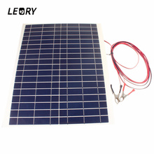 20W-12V Polykristallin Solar Panels Photovoltaik DIY Module Painel With Alligator Clip Solarzelle Camping OVP Digital Products(China)