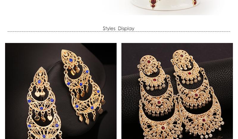 CWEEL Drop Earrings Long Women Biohemian Big Gold Color Statement Earrings Tassel Wedding Fashion Jewelry Earring Party Gifts (3)