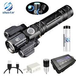 Деформируемый светодиодный фонарик супер яркий фонарь 1T6 + 2XPE масштабируемый 4 режима освещения питание от 18650 батареи для кемпинга, охоты