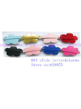 Fashion Mixed Color Hair Clips PU Leather And Sequin Material Jewelry Fit 8mm Bands