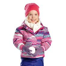 3-7Y Warm Winter Girls Coat Sporty Ski Suit Waterproof Windproof Baby Girls Jackets Kids Winter Clothes Children Outerwear(China)
