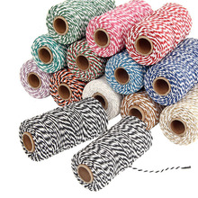 1 Roll 100 Metres 2mm Cotton Bakers Twine String Cord Rope Rustic Country Craft Gift Packing Material