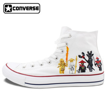Converse Star Women Men Shoes Custom Lego Ninjago Design Hand Painted Boys Girls High Top Canvas Sneakers Unique Gifts - WenArtWork Store store