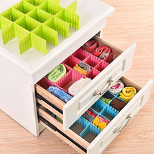 4 Pcs/Set 3 Colors 2 Sizes Plastic Simple DIY Free Combination Storage Baffle Grid Drawer Household Necessity Storage Organizer