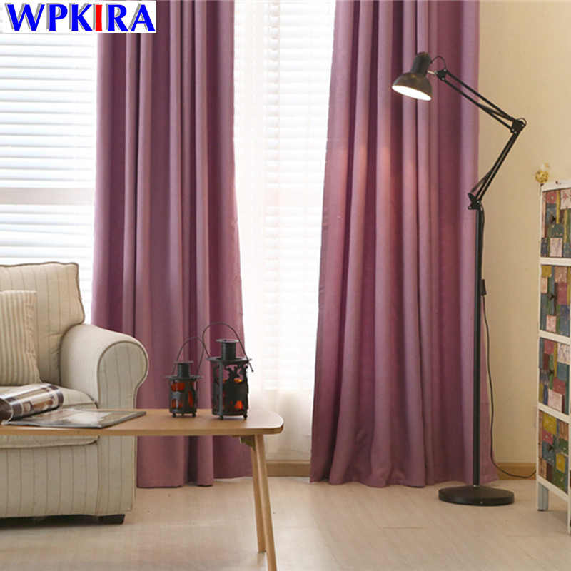 Solid Window Curtain Living Room Purple Cloth Curtain Drapes Bedroom Window Treatments Blue Curtain Drapery Panels WP198-30