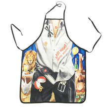 Novelty Cooking Kitchen Animal Trainer Print Sexy Apron Baking Present Pinafore Chef Funny aprons for women(China)