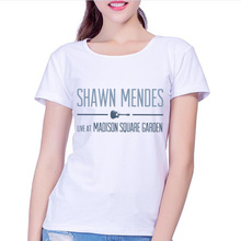 T Shirt Women 2017 New Shawn mendes designs Latest Fashion Fantastic Popular Music Singer Summer Tops Female Tees Short Sleeve