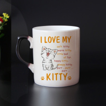 Free shipping funny cats Color Changing Mug Bone china Coffee Mugs Magic Tea Cup Magic cartoon Mugs gift for friends
