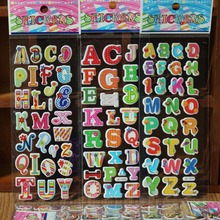Cartoon Stickers Letters for Baby Boys and Girls Decorative Foam Stickers Develop intelligence Vinyl Colourful