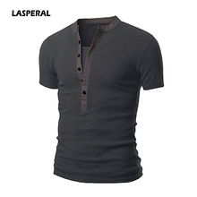 Buy LASPERAL New T shirt Men Homme 2018 Summer Mens Fashion Short Sleeve Henley Shirt Brand Slim Fit V Neck Tee Shirt Tops 6 Colors for $7.73 in AliExpress store