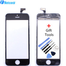 Netcosy Touch Screen Digitizer Front Touch Panel Glass Lens TouchScreenfor iphone 5 5G with Gift Tools Phone Accessories(China)