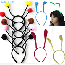 Black red pink yellow adult children cosplay animal Ant antennae Fly Ladybug headband bug bee hairband party favors for kids