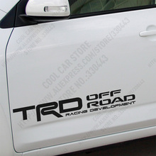 1 Pair Customizable TRD OFF LOAD Car Stickers Decal Car-Styling For toyota corolla avensis vw volkswagen renault car accessorie
