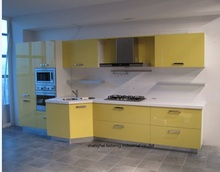 High gloss/lacquer kitchen cabinet mordern(LH-LA034)