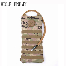 Molle 2.5L Hydration Water Reservoir Pouch Backpack Water Bag Outdoor Sport Hiking Hunting Airsoft Tactical Bike Outdoor Bag(China)