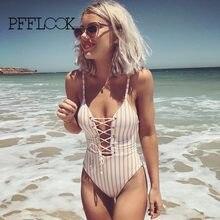 PFFLOOK 2018 New Swimsuit Yellow Stripe Triangle Women Bikini Sexy Reveal Back Bandage Maillot De Bain Bathing Swim Suit Bikini  sc 1 st  AliExpress.com & Popular Revealing Bikinis-Buy Cheap Revealing Bikinis lots from ...