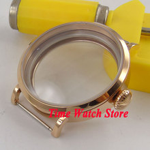 Parnis 46mm Fit 6497 6498 movement rose golden stainless steel Watch Case 21