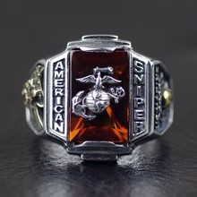 Thailand, Silver The U.S. Marine Corps Sniper Badges Ring