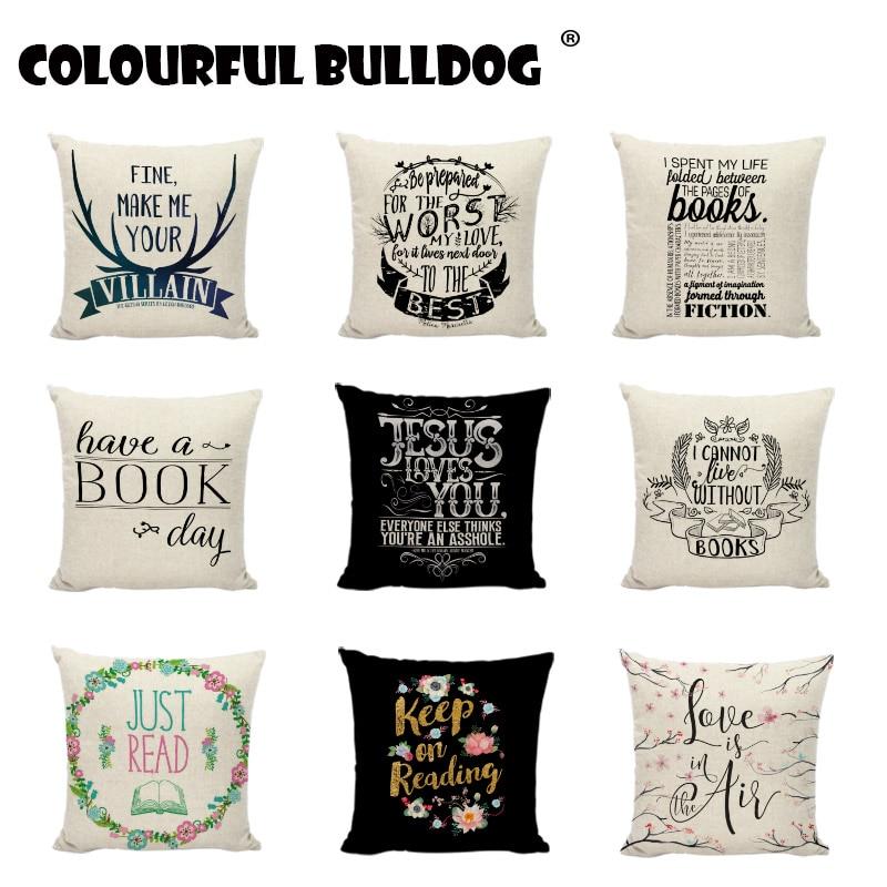 """Art Vintage Colourful Set Home Decor Cotton Linen CUSHION COVER PILLOW CASE 18/"""""""