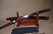 1095 High carbonSteel Clay Tempered Japanese Samurai KATANA FULL TANG Sword HANDMADE BLADE SHARP REAL HAMON CUSTOMIZED
