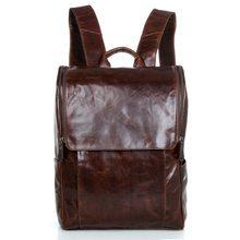 b7fbf09b63 Real Genuine Leather Vintage Backpack Men School Male Coffee Day Bag  Fashion Leisure Men s Travel Bags Laptop Backpacks J7344