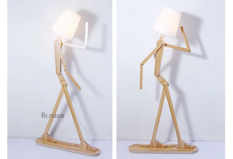 Japanese Style Creative DIY Wooden Floor Lamps Nordic Wood Fabric Stand Light For Living Room Bedroom Study Art Deco Lighting E27 (16)