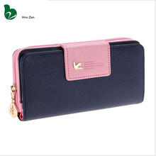 Fashion Small Leather Change Euro Coin Purse Key Long Zipper Pouch Women Wallet Case Female Hand Phone Money Ladies Bag For Girl(China)