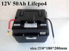 Lifepo4 12v 50ah lifepo4 battery pack Inverter Boost Portable Battery use for car ebike motorbike lead acid battery UPS battery