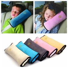 Useful Plush Pillow Toy For Side Sleeping Auto Pillow Car Safety Belt Protect Shoulder Pad Adjust Vehicle Seat Cushion for Kids(China)
