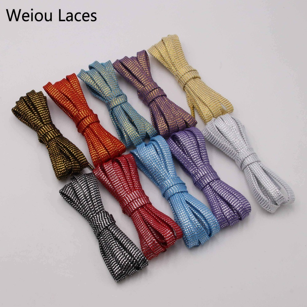 Twill Flat Shoe Laces Boot Trainer Shoelaces wide 8mm Length 100cm-140cm