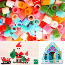 300 pcs/pack 5mm  Hama Perler Beads for  Kids Children DIY  Puzzles Creative  Intelligence Educational Toys Craft Christmas Gift