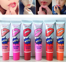 6Pcs Mask Tint Long Lasting Waterproof Lip Peel Off Lipstick Full lips Gloss Women Make Up Cosmetics Romantic Tattoo Magic Color