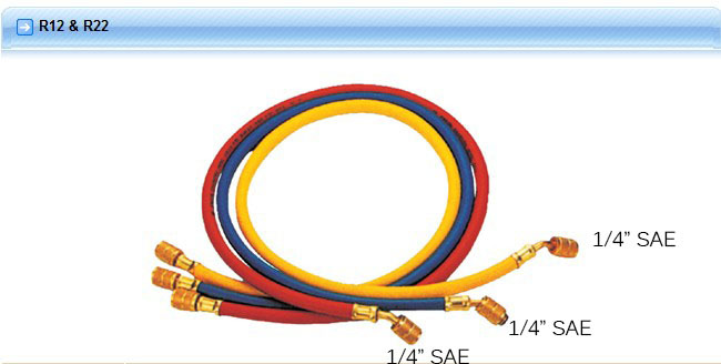 Hongsen CT-360 Three colors Refrigeration Charging Hose 150cm For R12 R22 R134A<br><br>Aliexpress