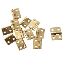 DSHA New Hot 12pcs 1/12 Dollhouse Miniature Furniture Cabinet Closet Mini Hinges - Golden