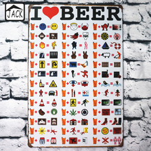 I Love Beer Funny Painting Vintage Poster Metal Tin Signs 20X30CM Iron Plate Wall Decor Plaque Club Home Bar Shop Cafe Gallery