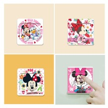 & 6 PCS/LOT Cartoon Mickey Minnie Switch Sticker Wall Stickers Bedroom Living Room Kids Room Home Decor Vinyl Posters Wall Decal
