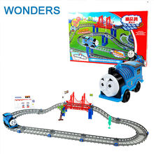 Diecast DIY Roller Coaster track Electric Electronic Trains Set With Rail Toys For Children Boys Kids Toys Jugetes Para Ninos(China)