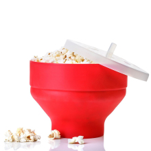 Microwaveable Popcorn Maker Pop Corn Bowl With Lid Safe Kitchen Baking DIY Delicious Food Popcorn Bucket Round Bowl(China)