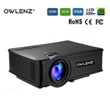 Owlenz SD50 Mini LCD Projector 1500 Lumens 1000:1 Contrast ratio 800*480 Resolution Support 1080P LED Projector For Home Cinema