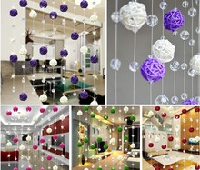 Free Shipping 50pcs/lot 3cm Holiday Event Party Supplies Rattan Ball Wedding Decoration house decoration Ornament Craft Ball