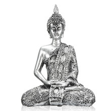 Exquisite 17cm Buddha Figure Thailand Feng Shui Sculpture Buddhism Statue Budda Happiness Ornaments for Home Decor Crafts Gifts