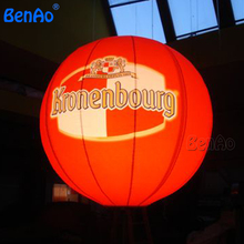 AO086 Free shipping 0.18mm pvc,Inflatable Advertising Balloons/sky balloon/Floating Spheres Inflatable Custom Led Balloon Helium