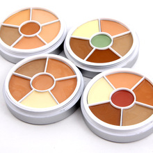 Professional Face Concealer Foundation  Palette  4 Set of 6 Colors Highlight Shadow Makeup Cosmetic M03309