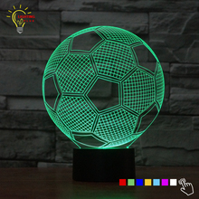 Cute Desk Lamp luminaria 3D Table Lamp LED Football Gifts Soccer Gadget Nightlights Home Decor Bed Light(China)