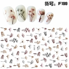 SUPER THIN SELF ADHESIVE 3D NAIL ART NAIL SLIDER STICKER FLOWER KITTEN CAT MAPLE LAEF LADY BUG OWL F195-204