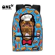 Cute Backpack Printing With Cook Dog Delicious Hamburger Pizza Hot Dog of School Season Series For Students Schoolbag rucksack