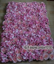10pcs/lot Pink Artificial silk hydrangea rose flower wall wedding background decoration lawn/pillar market decoration TONGFENG(China)