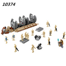 AIBOULLY 2017 New 565pcs 10374 Battle Droid Troop Carrier Spaceship vessel Cruiser Jar Binks blaster brinquedos 75086(China)