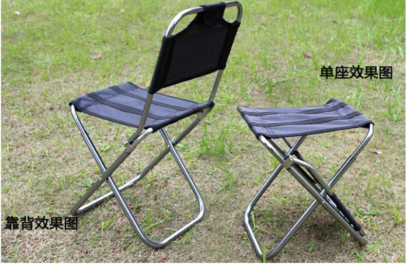 48*24*23cm Aluminum alloy Folding Beach Chair Portable Outdoor Fishing Chair Ultra-Light Backrest Chair Camping Barbecue Stool(China (Mainland))