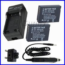 Battery (2-Pack) +Charger Panasonic Lumix DMC ZS1, ZS3, ZS5, ZS6, ZS7, ZS8, ZS9, ZS10, ZS15, ZS19, ZS20, ZS25 Digital Camera - Sunny-Room store